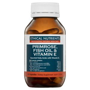 Ethical Nutrients Primrose, Fish Oil & Vitamin E 60 Capsules