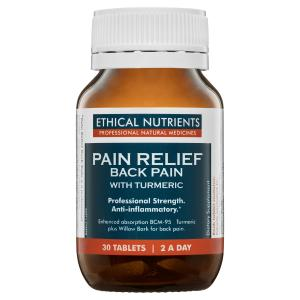 Ethical Nutrients Pain Relief Back Pain with Turmeric 30 Tablets