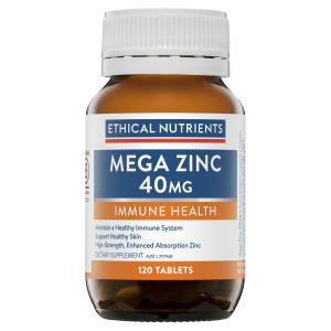 Ethical Nutrients MEGAZORB Mega Zinc 40mg 120 Tablets