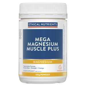 Ethical Nutrients Megazorb Mega Magnesium Muscle Plus Powder Tangerine 135g
